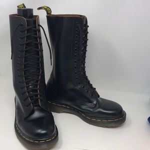 Dr. Martens Made in England leather high top boot